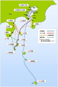伊豆諸島航路図