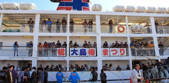 【あんこさんによる大型船のお見送り!2014年の写真です】
