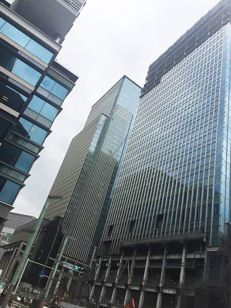 日本橋は高層ビルが多くThe・オフィス街と言った感じ。