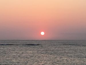 西表島祖納港に沈む夕日②