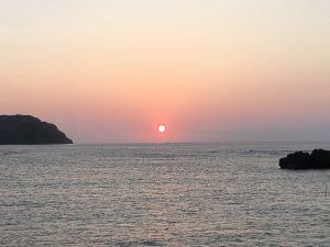 西表島祖納港に沈む夕日①